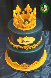 Royal Baby Shower Cake With Crown Tutorial