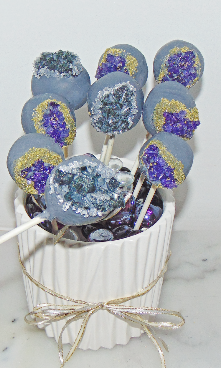 How to Make Geode Cake Pops: Free Tutorial - Wow! Is that ...