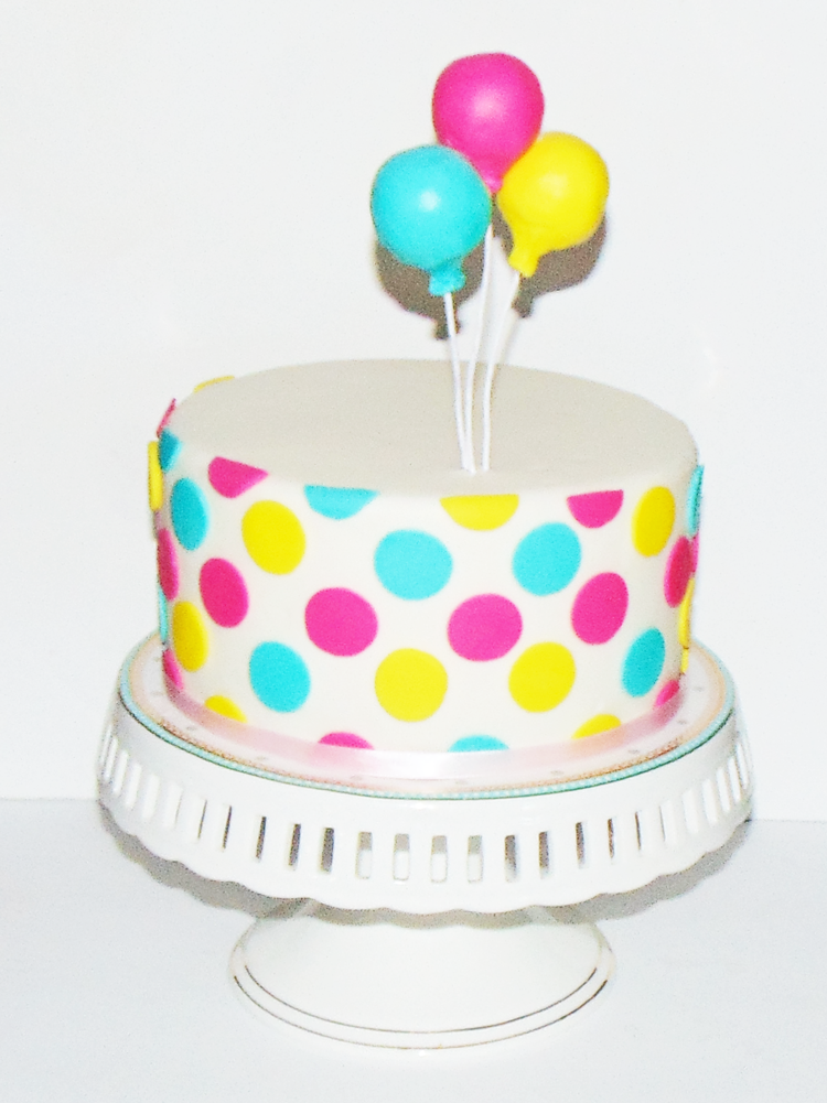 Remarkable How To Make An Easy Polka Dot Cake With Balloon Wow Is That Funny Birthday Cards Online Fluifree Goldxyz